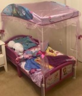 Frozen Toddler bed with Canopy and mattress