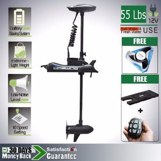 Buy 12V 55 lbs Bow Mount Electric Trolling Motor hand control Quick Release bracket motorcycle in Rowland Heights, California, United States, for US $499.00