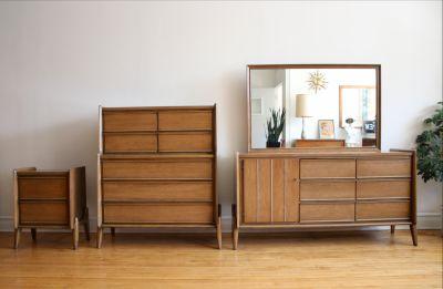 Mid Century Modern United Bedroom Set
