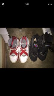 AQua 8s and other red and white 8s selling together