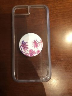 Clear iPhone 7/8 case with PopSocket