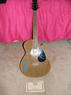 Country Musician LUKE BRYAN Guitar