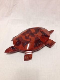 """Turtle Trinket Box. Wood. Hand carved. 11 x 6"""". Pick up at Target in McCalla on Thursdays 5:15 to 6:00pm."""