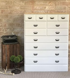 Vintage Apothecary Style Dresser / Chest of Drawers