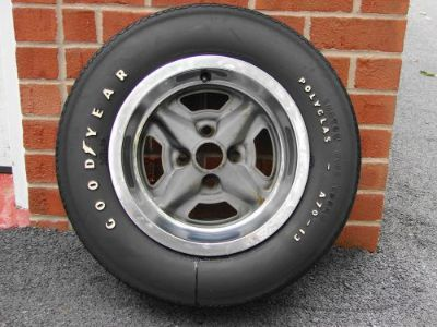 Purchase 71 72 73 74 75 CHEVROLET VEGA GT RALLY WHEEL & A70-13 GOODYEAR POLYGLAS TIRE motorcycle in East Earl, Pennsylvania, United States, for US $250.00