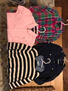 5pieces- Size 8-10 girls tops (RL, Crewcuts sweater, and ON) *all fit about the same.