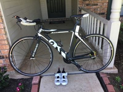Quintanaroo carbon fiber road bike with shoes