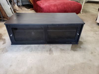 TV Stand With Sliding Glass Doors!