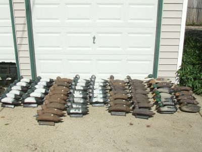 62 Duck Decoy Lot Blue Bill Super Mallard / Set Lines & Weights