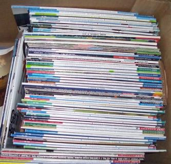 Large Box Full of Golf Magazines