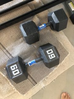 Like new 60lb helix weights