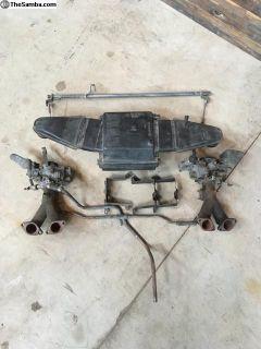 73 74 Bus original Solex dual carburetor setup