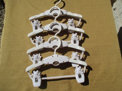 White Expandable Baby Hangers