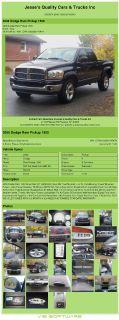 $14,992, 2006 Dodge Ram 1500 Quad Cab Slt Hemi 60k Miles 4x4 Tow Pkg Bed Liner Air Conditioning; Power Window