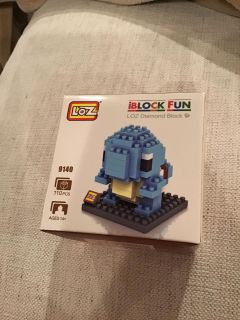 Brand new Pokemon Squirtle LEGO type toy - NIB - code ms
