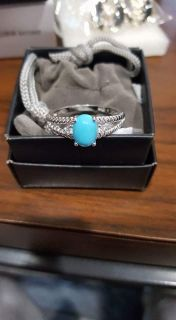 Simulated turquoise ring sz 8