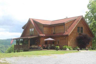575 Plantation Drive Richlands, gorgeous custom log home on