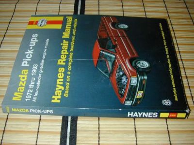 Sell Haynes Repair Manual 61030 Mazda Pickup Truck 2WD 4WD 4X4 4 Cyl Engine 1972-1993 motorcycle in Payson, Utah, United States, for US $11.99