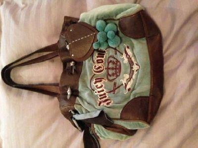 $75 Authentic Soft Blue Velour Juicy Couture Handbag