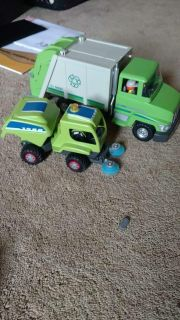 Play mobile garbage truck and street sweeper