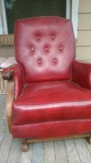Red leather rocker