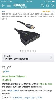 New HDMI 3 in 1