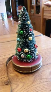 Christmas tree on antique measuring tape