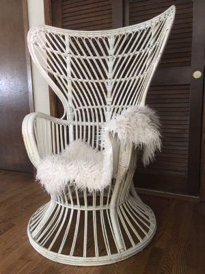 MCM Bamboo Peacock Throne Chair