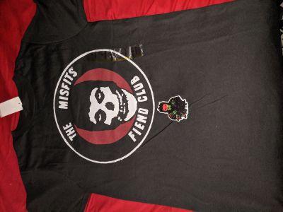 Misfits Fiend Club shirt and Spitfire Burn Club sticker