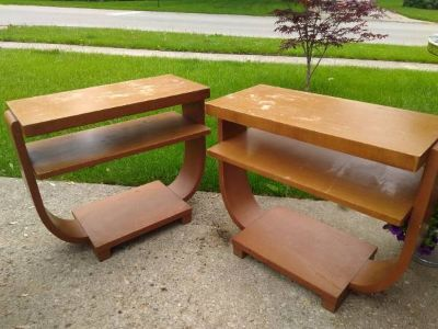 Pair Blond '60's End Tables