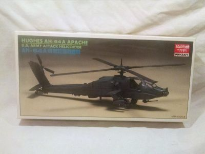 Model Apache helicopter, vintage