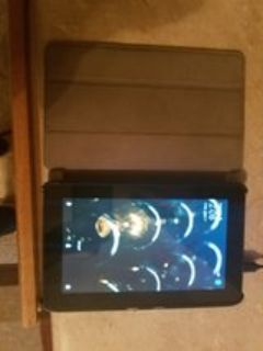 kindle fire tablet with case and charger