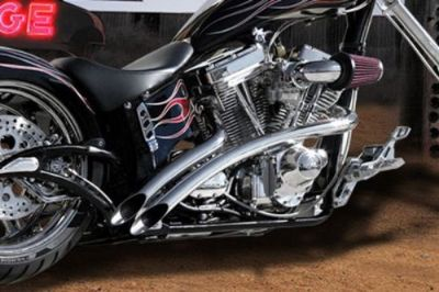 Purchase SANTEE VENOM EXHAUST + HEAT SHIELDS HARLEY SOFTAIL FXST FXSTC NIGHT TRAIN DEUCE motorcycle in Battle Creek, Michigan, United States
