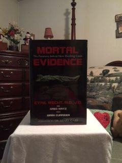 """REDUCED - BRAND NEW copy of """"Mortal Evidence: The Forensics Behind Nine Shocking Cases"""" HARDCOVER book $7.00"""