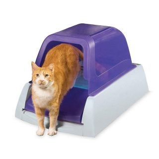 PetSafe ScoopFree Ultra Self-Cleaning Cat Litter Box, Covered, Automatic with Disposable Tray