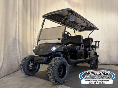 2014 Yamaha Gas Carb Golf Cart DELUXE STREET READY 6 Seater, Metallic Black