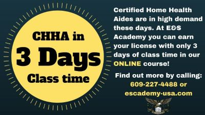 Home Health Aide online classes starting soon. Call now for more information