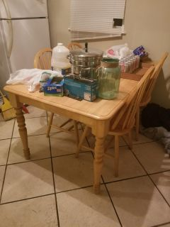 Solid Wood Table & 4 Chairs