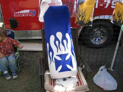 Find Yamaha Banshee Blue Cross Flame MotoGHG Seat Cover #ghg2224scptbk2224 motorcycle in Chandler, Arizona, US, for US $69.99