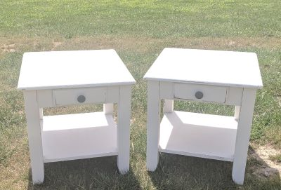FARMSTYLE COUNTRY WHITE NIGHTSTANDS ($80 EACH)