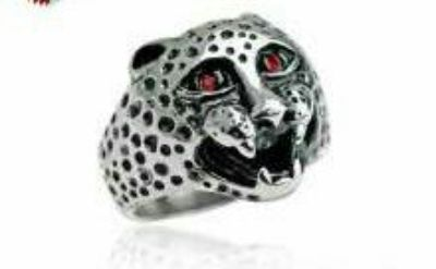 Leopard steel ring