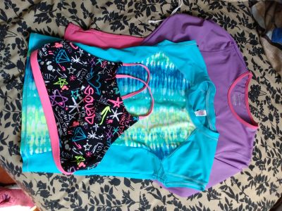 Girls swim tops