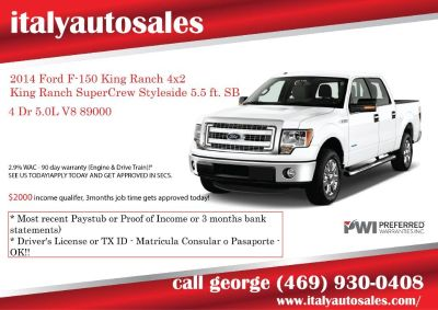 2014 Ford F-150 King Ranch 4x2