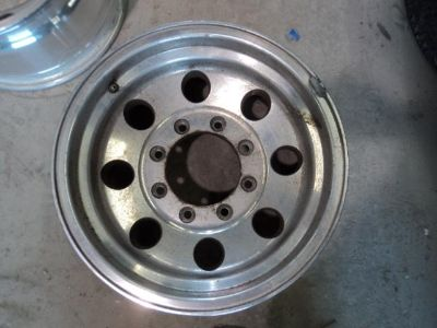 """Find 1 American Eagle 058 Polished Aluminum Wheel 16X8"""" 8x170 99-04 Ford Super Duty motorcycle in Channelview, Texas, US, for US $50.00"""