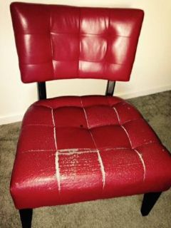 Big Red Comfortable Classy Chair