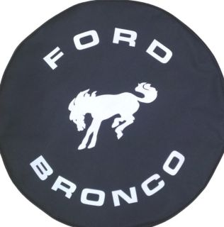 Sell SpareCover Brawny Series - FORD BRONCO Black Denim textured Vinyl Tire Cover motorcycle in Orlando, Florida, US, for US $0.99