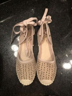 New without tags tie espadrilles size 8.5