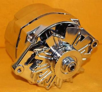 Sell Pro Series Chevy Gm Olds Chrome 1 One 3 wire Alternator Sbc Bbc 100 Amp Buick motorcycle in Columbus, Georgia, US, for US $75.95