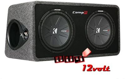 """Buy Kicker 40DCWR122 Dual 12"""" CompR Subwoofers in Ported Enclosure Box motorcycle in Los Angeles, California, United States, for US $344.95"""