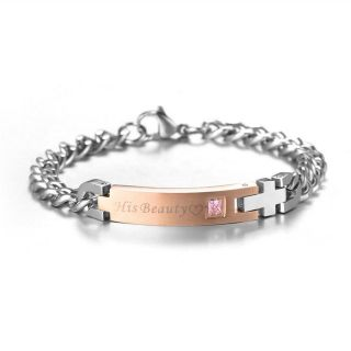 Stainless Steel Lovers Bracelet LADY'S